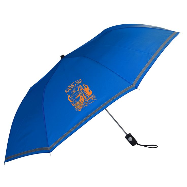VRNW001 See Thru Reflective Auto Open Folding Umbrella
