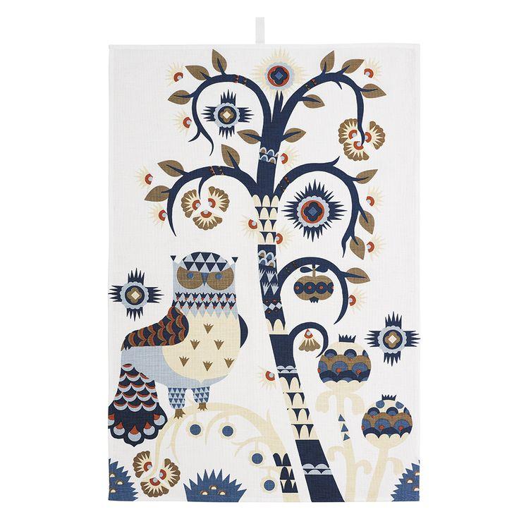 Taika Kitchen Towel, White - Heikki Orvola - Iittala - RoyalDesign.com #forthekitchen #iittala #royaldesign #taika #design #interior