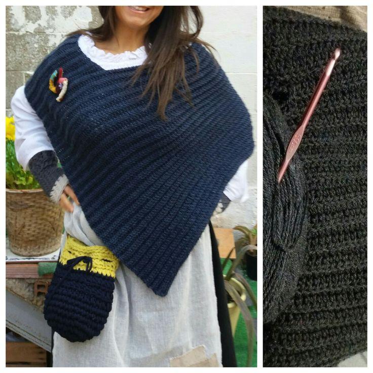 Toquilla crochet azul