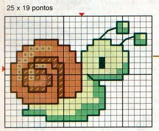 Snail :) pixellated baby quilt?
