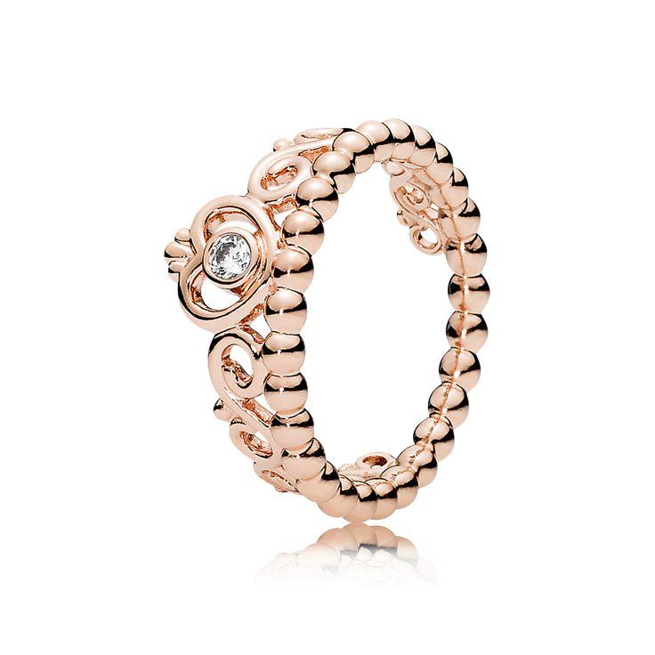 PANDORA | My Princess Tiara Ring, PANDORA Rose™ & Clear CZ