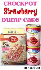 Crockpot Strawberry Dump Cake Recipe from TheFrugalGirls.com