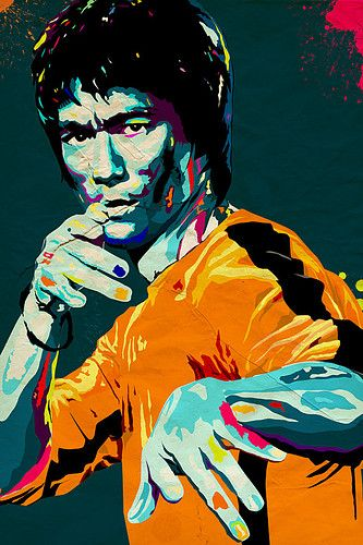 bruce lee giclee art print - a3 portrait  I need to find this!