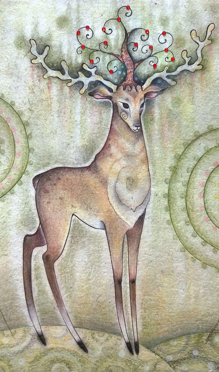 рождественский олень из бумаги трафарет