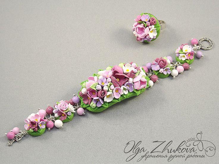 flower bracelet by polyflowers.deviantart.com on @deviantART