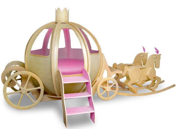 Best Princess Carriage Bed So Cute Girls Spaces Pinterest 640 x 480