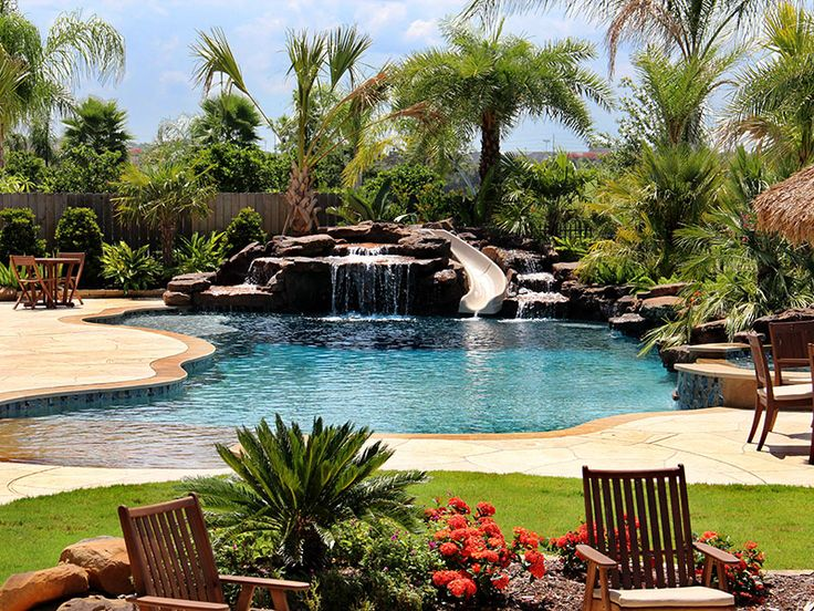 Outdoor Living Designers In Parkland, Florida | Pool Builders, Inc ... |  Backyard Bliss | Pinterest | Rock Waterfall, Swimming Pool Designs And  Outdoor ...