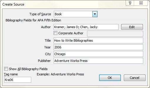 Are you using Microsoft Word 2007 or 2010? Generate your bibliography by following these instructions.