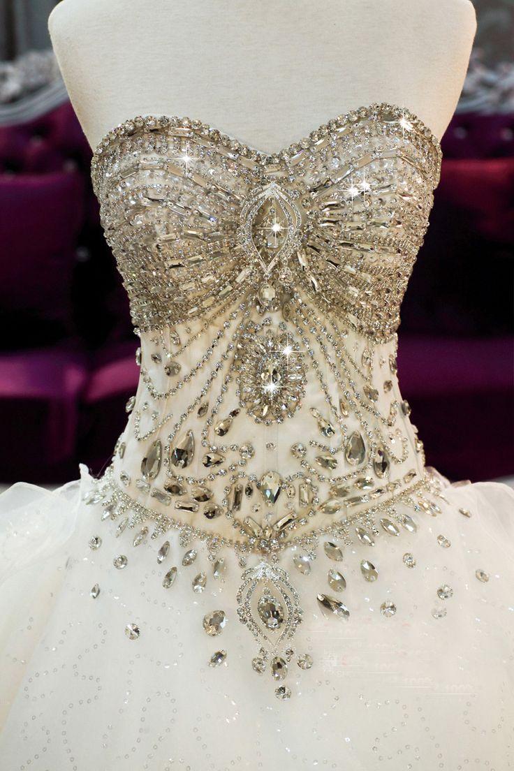 Swarovski Crystal Gown | elegante 2013 querida swarovski crystal ball gown trem tribunal plus Spectacular! Jaglady