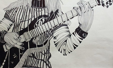 Contour Line Drawing Guitar : Cross contour lines lesson ideas