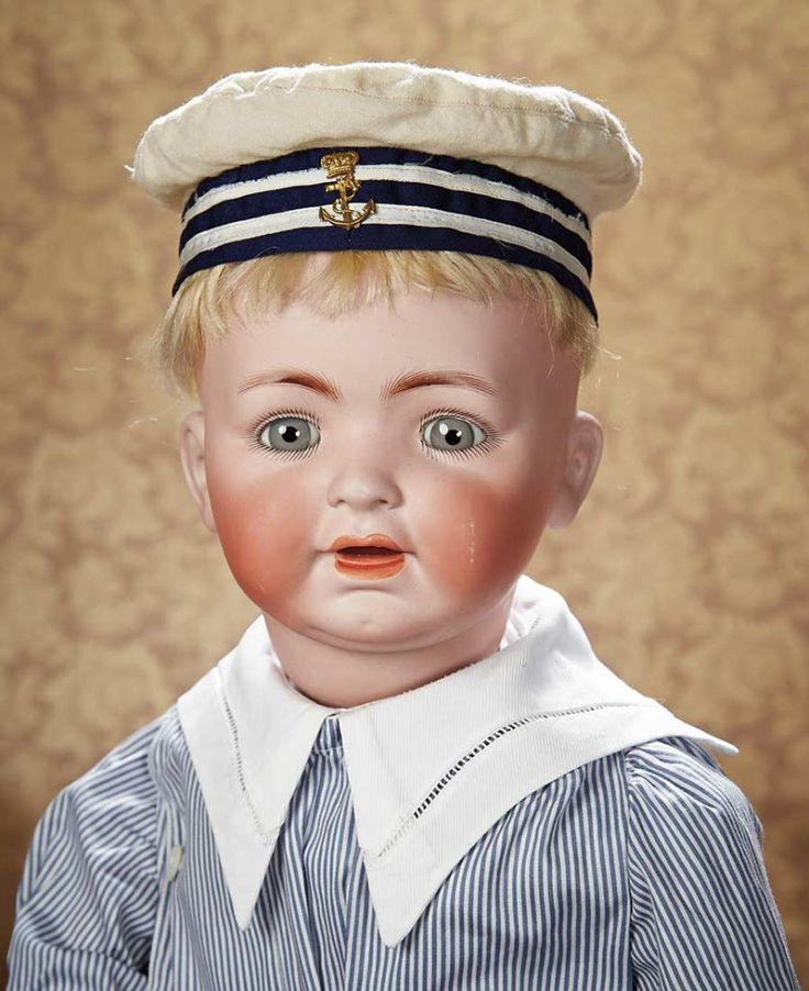 German Bisque Character for George Borgfeldt with Rare Large Toddler Body 800/1100