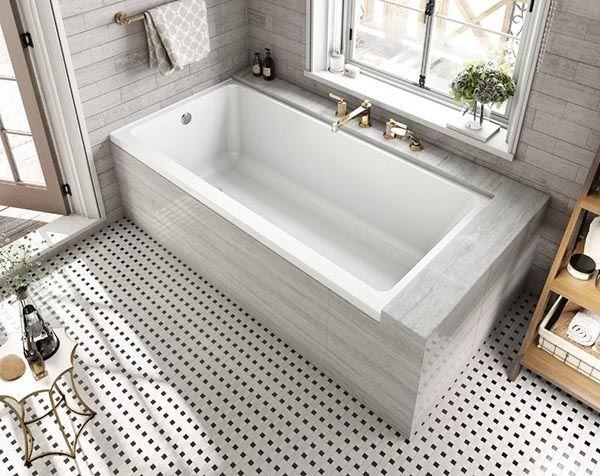 Rectangular Drop In Bathtub Design Dropintub Bathtub Tub Ideas Decorhomeideas Bathtub Remodel Bathroom Renovation Diy Bathtub Shower Combo