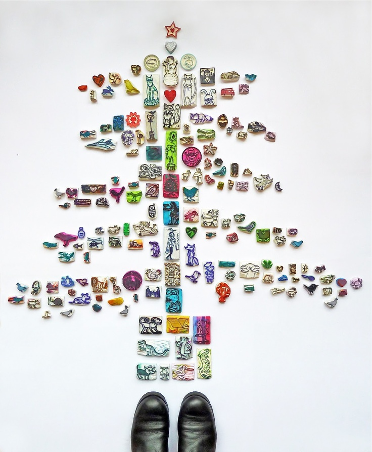 Gertie Jaquet - awesome stamp tree!  Hehe.