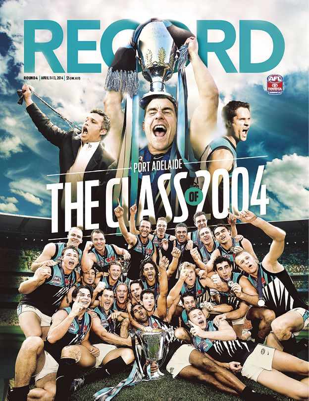 AFL Record Round 4 | Cover Design | Port Adelaide