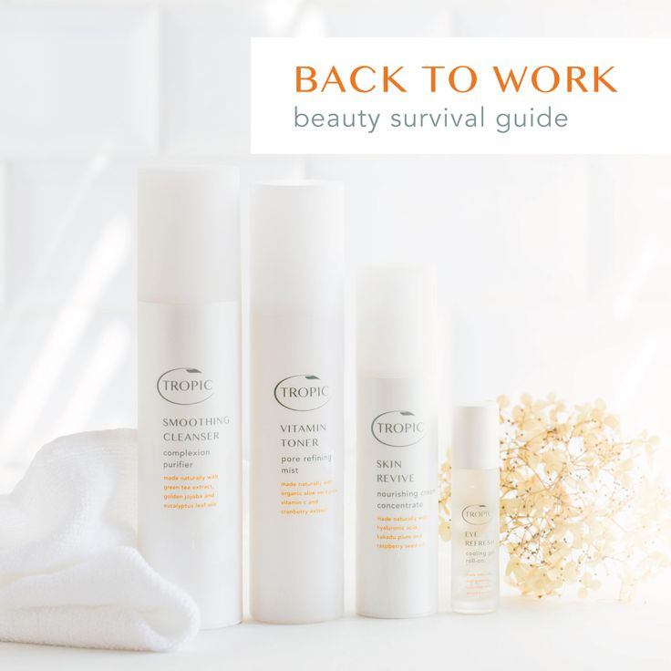 Tropic has your back-to-work beauty sorted! With our refreshing range of skincare just waiting to kick start the day, your winter mornings will be easy peasy!