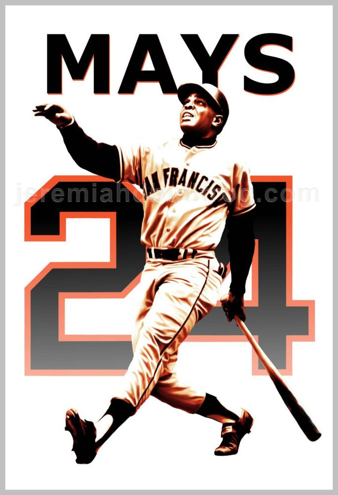 San Francisco Giants Willie Mays - 13x19 Baseball Art Poster - Say Hey Kid #sfgiants #SanFranciscoGiants