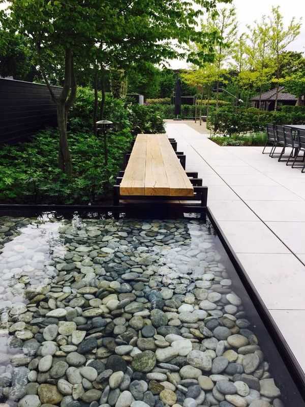 32 Stunning Low Water Landscaping Ideas For Your Garden: Modern Landscaping, Water Features In The Garden