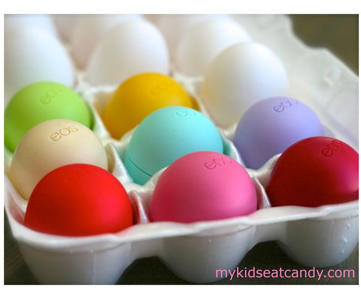 EOS Lip Balm Easter Eggs — my favorite lip balm + a great gift for the lip-balm lover in your life!