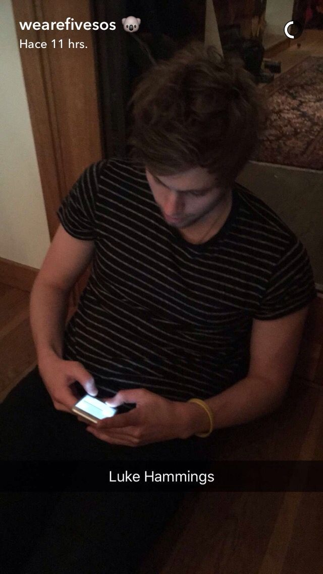 Lucas on the band Snapchat