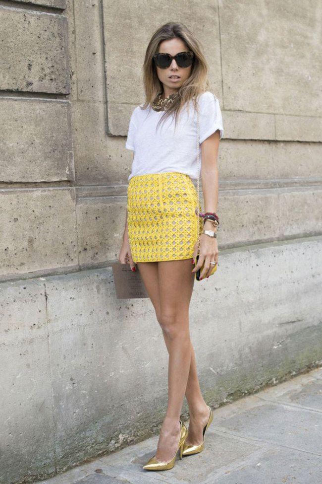 Che cosa indossare se si hanno le gambe corte? Sei tra le fortunate che devono indossare la minigonna.