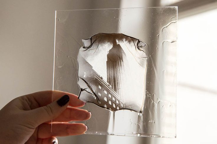 Emulsion Lift using Polaroid pictures. The image is transparent and can be stuck to anything, leading to very interesting results! Mirrors sound cool!