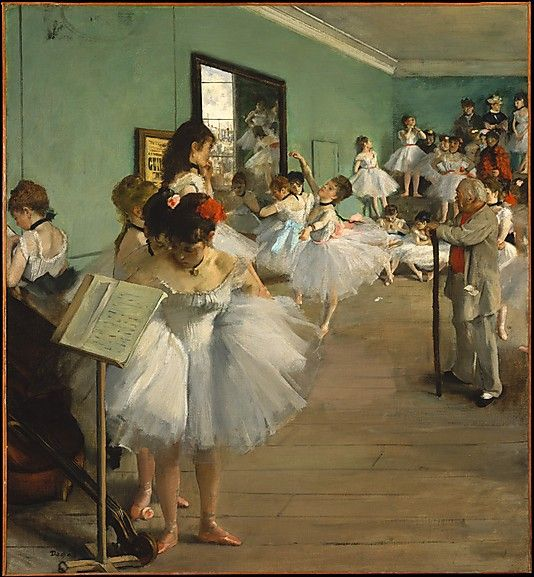 Edgar Degas (French, 1834–1917). The Dance Class, 1874. The Metropolitan Museum of Art, New York. Bequest of Mrs. Harry Payne Bingham, 1986 (1987.47.1) #dance #Degas | When this work and its variant in the Musée d'Orsay, Paris, were painted in the mid-1870s, they constituted Degas's most ambitious figural compositions except for history paintings.