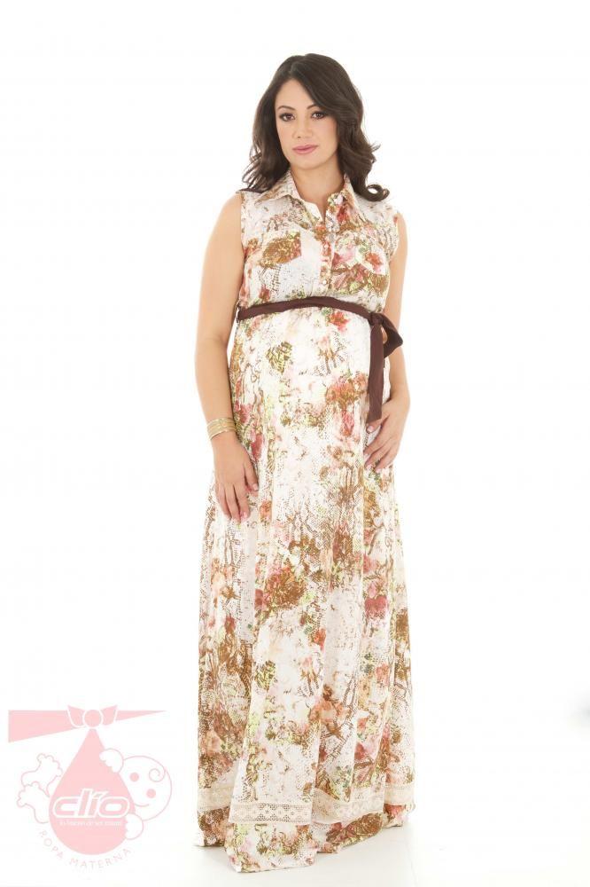 Ropa materna con las tendencias de la moda. Este vestido de maternidad es una prenda muy apropiada para lucir en diferentes ocasiones, desde una ocasión formal, hasta una salida con tus amigas o familia.