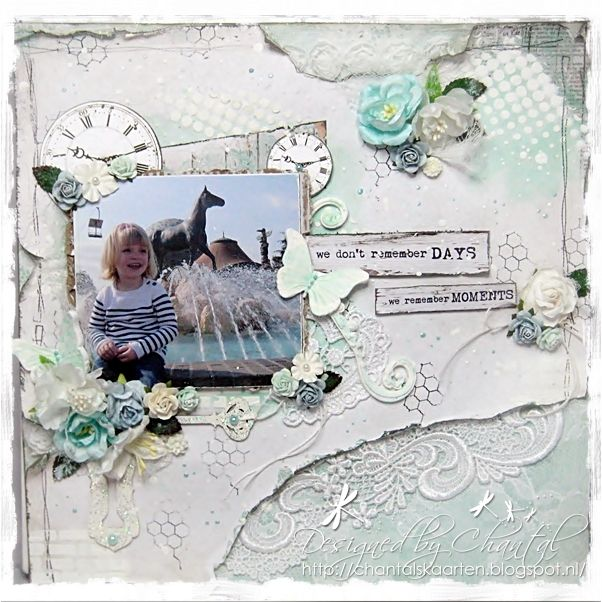 Cards made by Chantal: We remember moments...
