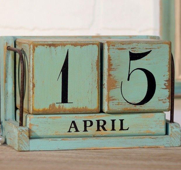 Blue Perpetual Calendar