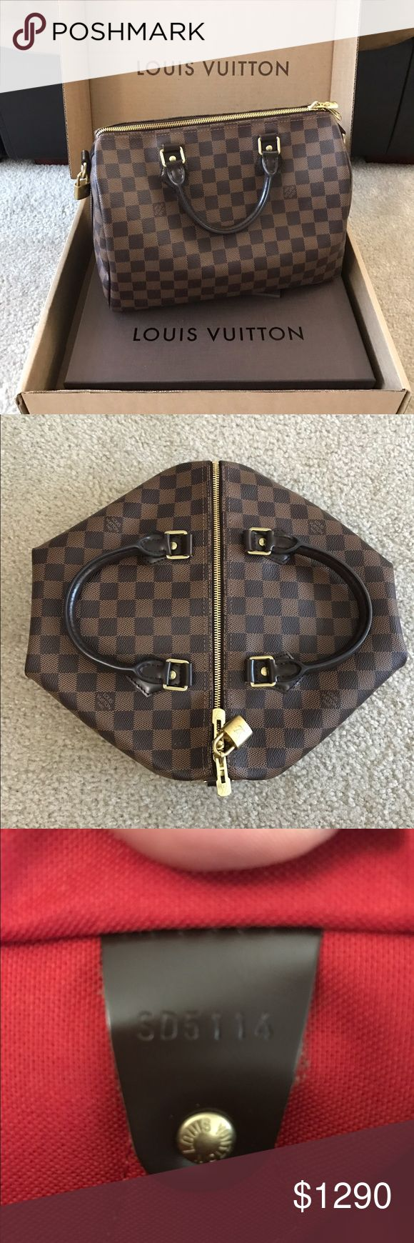 louis vuitton speedy no date code Louis vuitton key pouch damier ebene date code- ct0176 louis vuitton speedy 35 bandoulière damier ebene bag 8500,00 sek.
