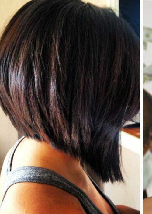 Wirklich Beliebt Inverted Bob Back View Bilder Messybob Hairstyles