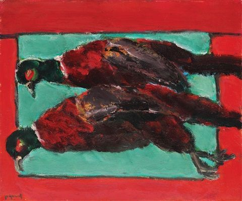 Still life with pheasant by Ion Pacea