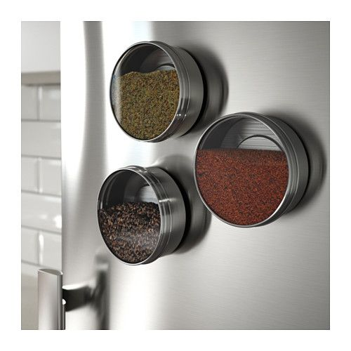 GRUNDTAL Container  - IKEA - A brilliant solution! I do need a better way to store my spices!