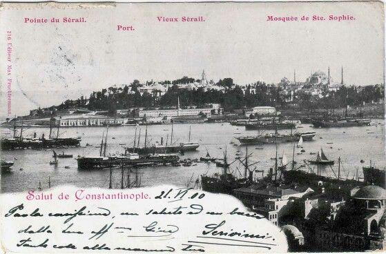 Point du Serail, la port, vieux serail et Mosquée de Ste. Sophie