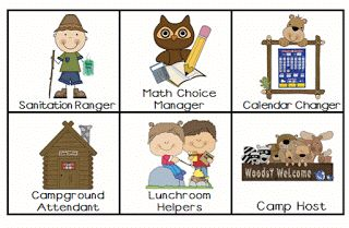 Camp Kindergarten: Classroom Jobs with a Camping Theme!