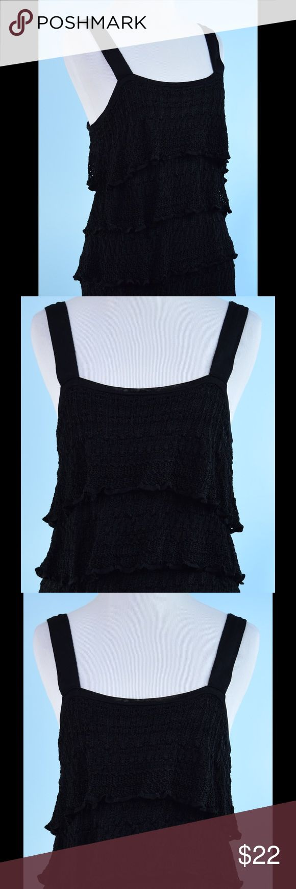 WHIYE HOUSE BLACK MARKET tier top MEDIUM WHIYE HOUSE BLACK MARKET black tier tunic top MEDIUM, length 26 inches, bust 32 inches, 100% Rayon - never worn White House Black Market Tops