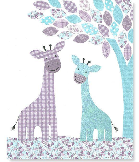 Printable Nursery Art Aqua and Purple by SweetPeaNurseryArt, $6.00