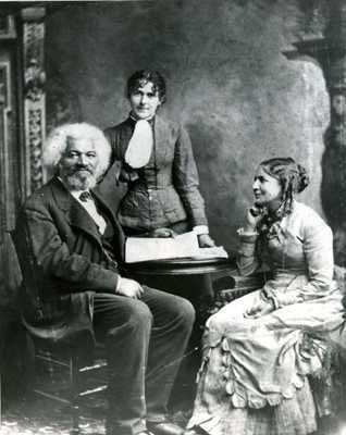 First Interracial Marriage: Frederick Douglass & Helen Pitts ~ Married in 1884