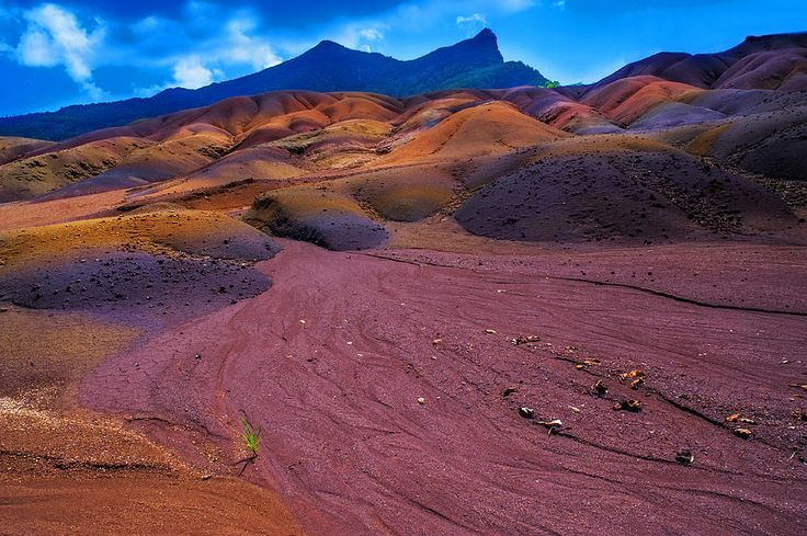 Seven Colored Earth In Chamarel II. Mauritius by Jenny Rainbow