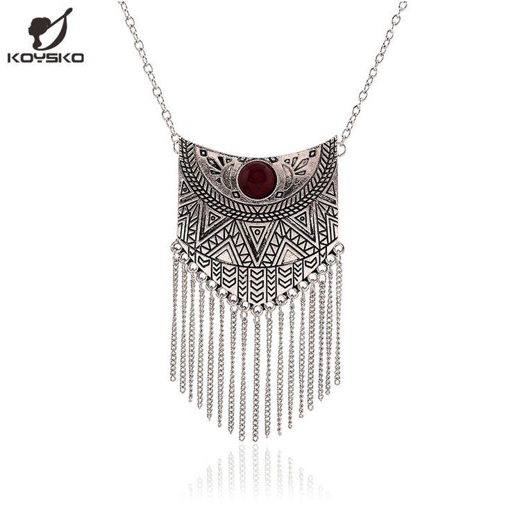 Pas cher 2016 nouveau Maxi collier mode ethnique Collares Vintage collier pendentif de déclaration pour les femmes bijoux, Acheter  Pendentifs de qualité directement des fournisseurs de Chine:                        100% tout neuf, de haute qualité                 Style: maxi colliers                 Matériel: