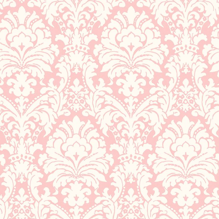 Coastal Waters Volume II Pink & Cream Simple Damask Wallpaper CT36069 - papermywalls.com