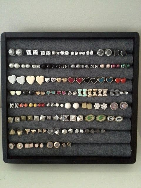 I have a ton of earrings and needed a cute way to display them. So of course I searched Pinterest and found a few different options. The m...