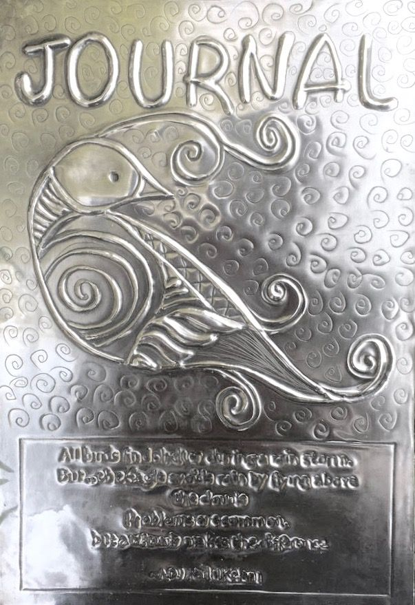 Beginner's Pewter Journal Workshop - Oct 2016 ***Michele's Bird