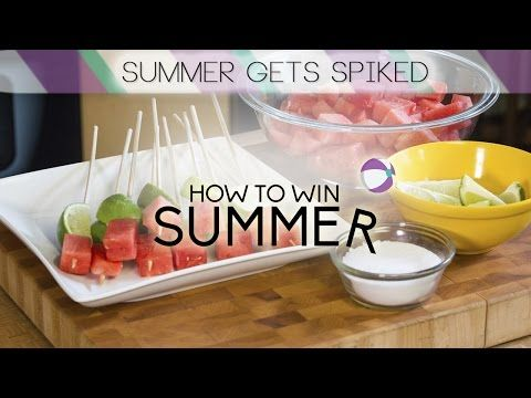 How to Win Summer: Spiked Watermelon Tequila Shots | Food Network - YouTube