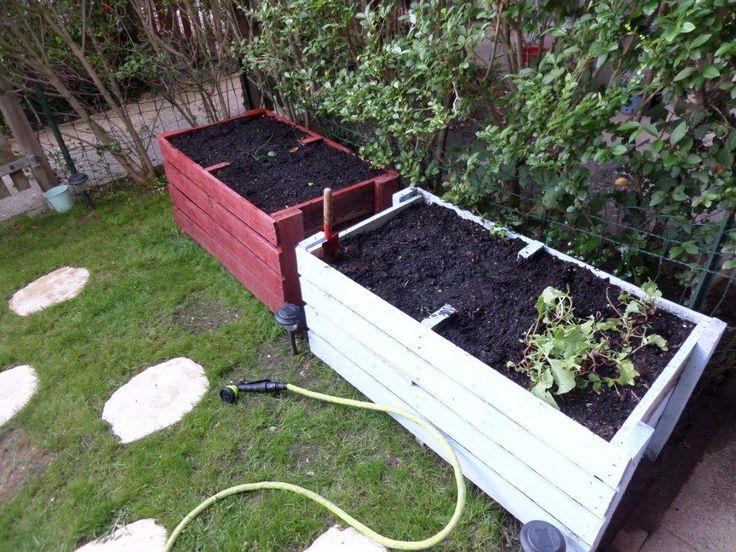 1000 ideas about jardiniere en palette on pinterest palette de jardin d 3 - Transformer une palette ...