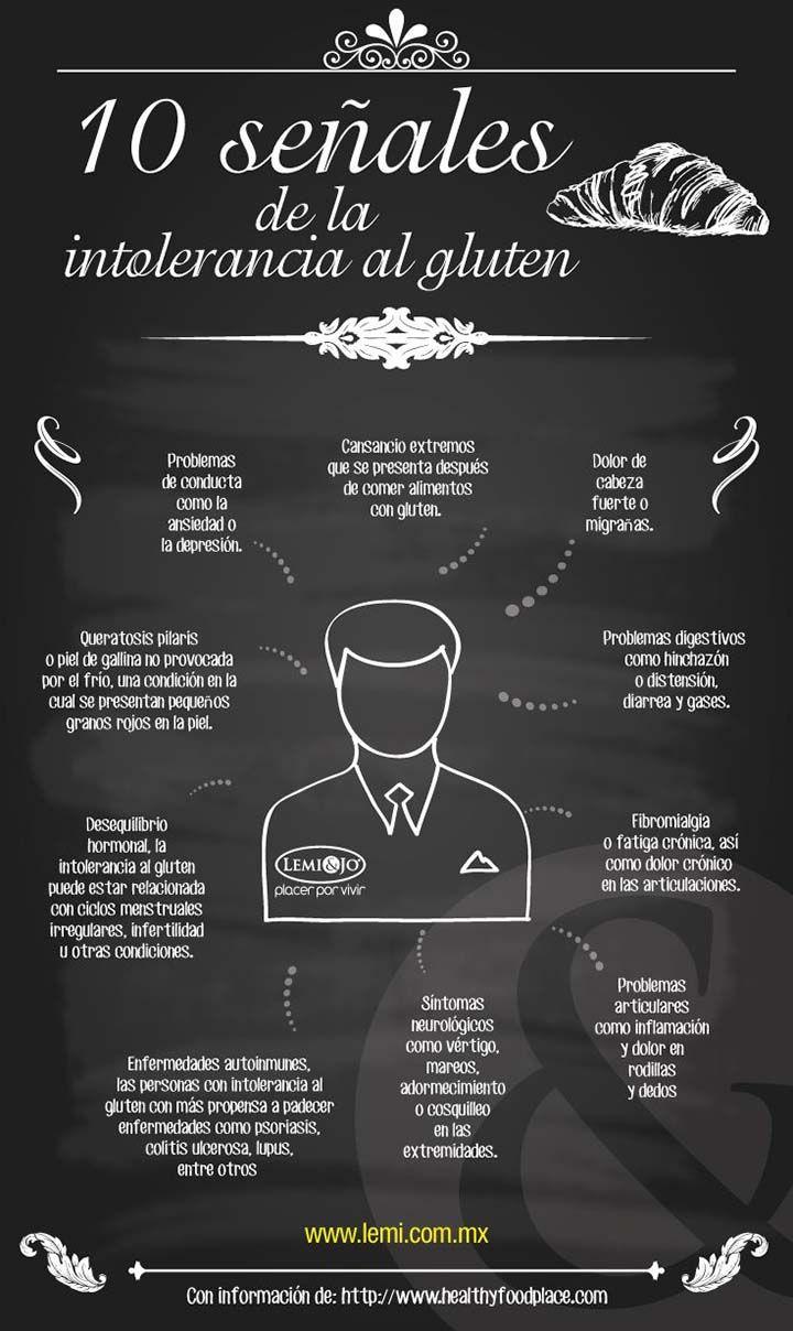 10 señales de la intolerancia al gluten. #celíacos #gluten #infografía http://www.body-vip.com/es/248-alimentos-sin-gluten