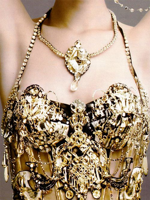 """Outrageous Fortune"" Jean Paul Gaultier Haute Couture bustier photographed by Alix Malka for Telegraph Luxury November 2006"