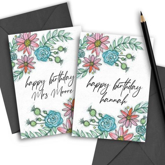 Custom Birthday Card Happy Birthday Wife Vsco Card Best Etsy Birthday Cards For Friends Custom Birthday Birthday Greeting Cards