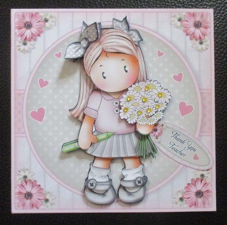 School Girl Chloe 2 Mini Kit. Birthday Teacher Mothers Day by Davina Rundle