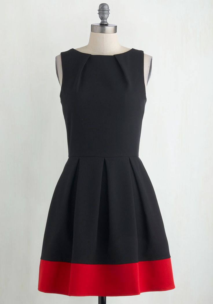 Luck Be a Lady Dress in Black and Red. If youve been searching for a charming new frock, then youre in luck! #black #modcloth